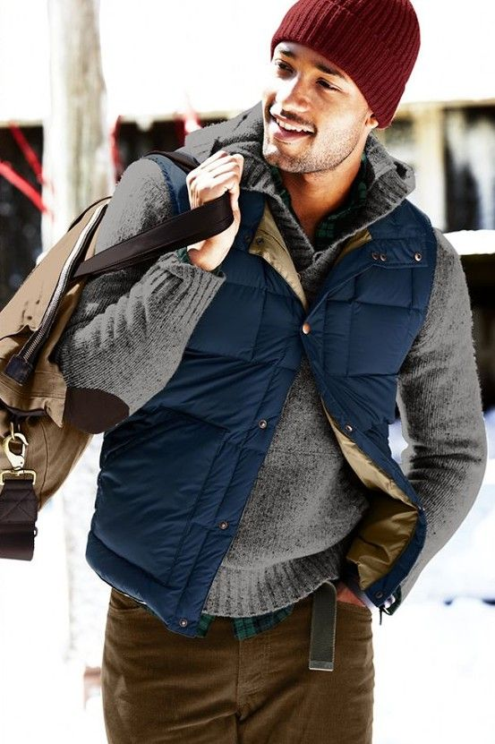 Puffer vest done right.