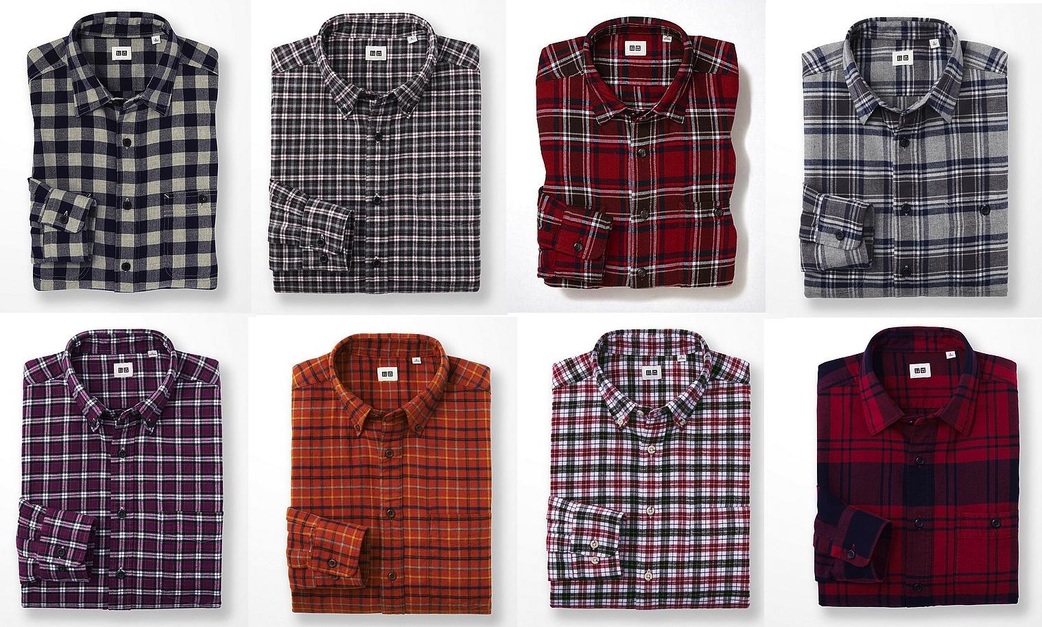 Uniqlo-Flannel-Shirts